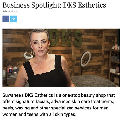 Business Spotlight DKS Esthetics article
