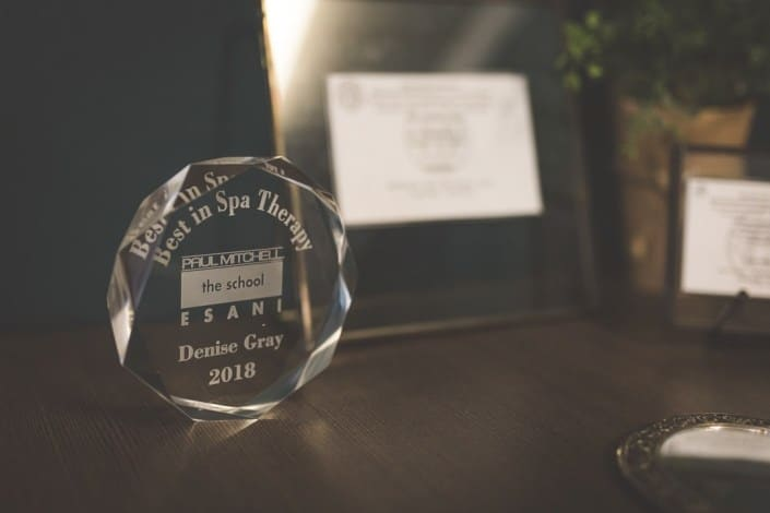 Denise Gray's award for the Best in Spa Therapy 2018